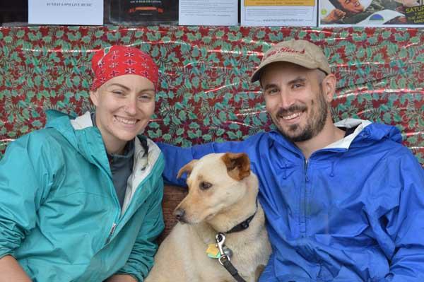 Appalachian Trail Hiker GI Jane and Mushu